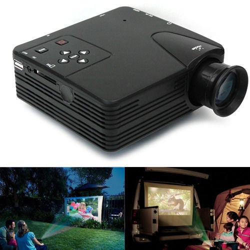 Home Cinema Theater Multimedia LED LCD Projector HD 1080P AV/VGA/SD/USB/HDMI