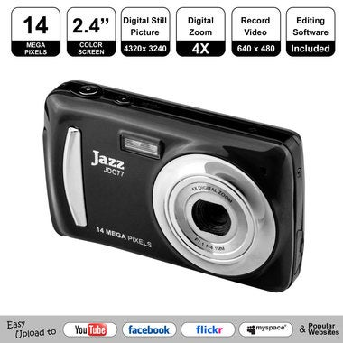 14 Mega Pixel Youtube Ready Digital Camera With 4x Zoom & 2.4