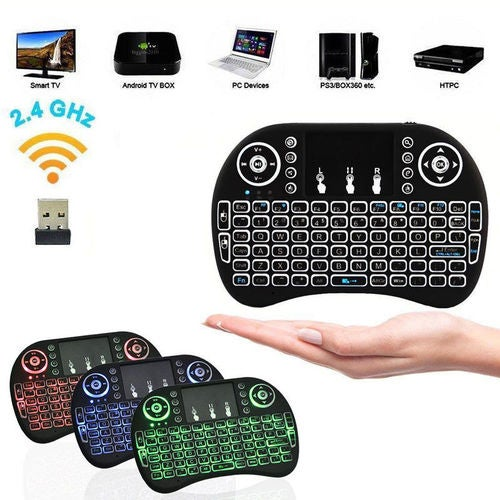 Mini i8+ Backlight Wireless Bluetooth Keyboard 2.4GHz Keyboard Remote Control Touchpad