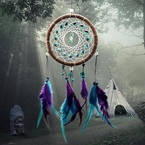 Home Bedroom Decoration Ornament Dream Catcher with Feathers Hanging