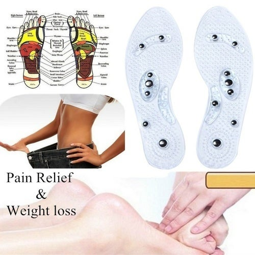 Lucky Gift 2018 !1Pair Shoe Gel Insoles Magnetic Massage Foot Health Care Pain Relief Therapy Relaxation Massager Comfort Foot Pads