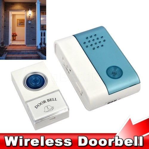 2016 New Home Entry Wireless Doorbell Cordless Door Bell Jingle Bell with Remote Control 40 Meters 38 Ring Tones Chime Alarm