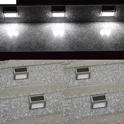 1pcs Led Light Wall Staircase Lamp Pathway Outdoor Solar Power Garden Yard