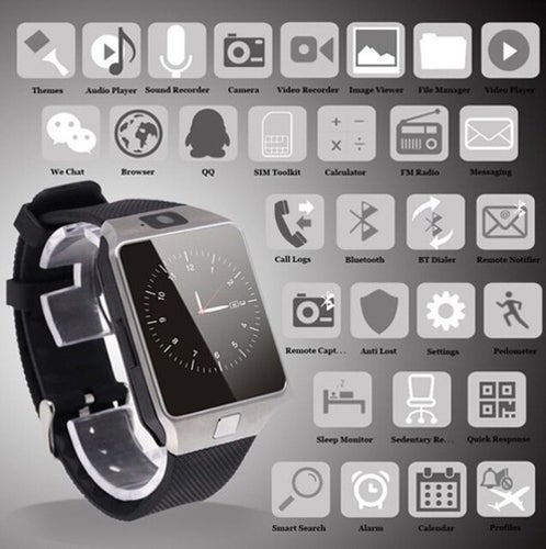 Great Gift for Christmas 2017 LATEST VERSION Original DZ09 SmartWatch Bluetooth Touchscreen SIM Card SmartWatch Phone With Spy Camera / For iPhone Android HTC