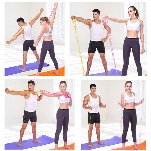 Home Fitness Resistance Bands Stretching Training Silicone Rope