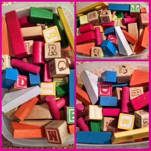 70 Playskool 1970s Wood Blocks With Letters And Num Tophatter