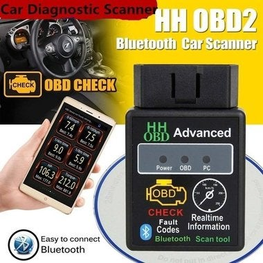 Car Diagnostic Scanner Tool Bluetooth OBD2 CAN BUS & Engine Code Reader