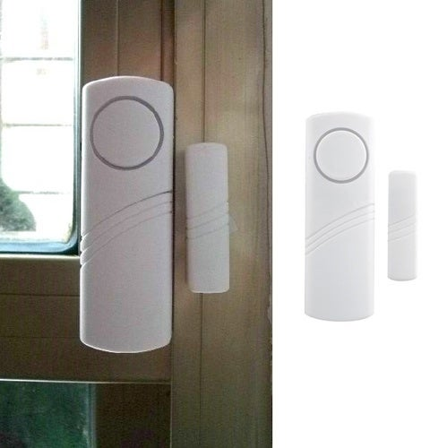 Home Safety Wireless Longer System Security Device Door Window Burglar Alarm (Color: White)
