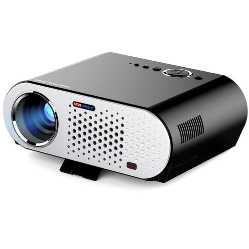 """GP90 Full Color 280"""" LED Projector 3200 ANSI Lumens 1280 * 800 Pixel 10000:1 Contrast Ratio US Plug with HD IN VGA AV USB Port for Notebook Laptop"""