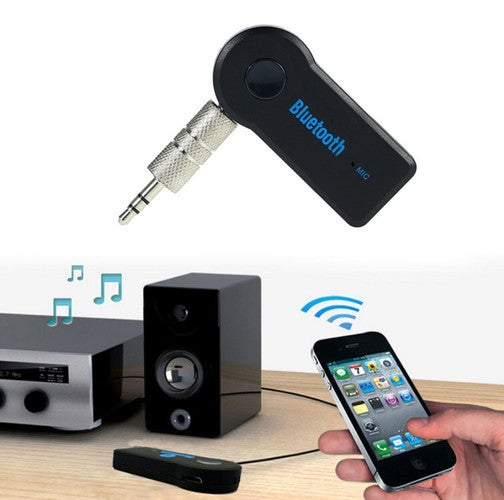 1 pcs Receiver 3.5mm Stereo Music AUX Audio Adapter Car Wireless Bluetooth Mic