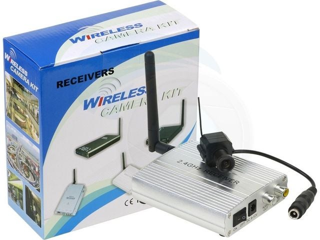 Wireless 2.4Ghz Small Color Spy Video Sound Security Microphone Audio with Receiver Door Camera Kit