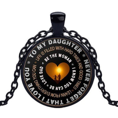 Father and Daughter Necklace Father Give Her Daughter's Gift Never Forget That I