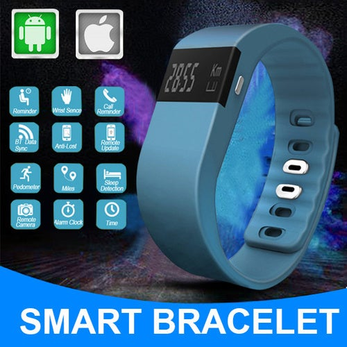 Sports Bracelet Bluetooth 4.0 Smart Wristband Digital-watch Pedometer APP For Phone