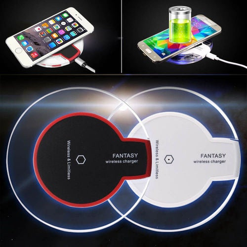 Clear Qi Wireless Charger Fast Charging Pad for Samsung S8 Note8 S7 iPhone X&8