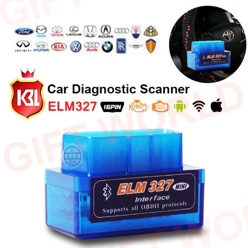 Mini OBD2 OBD ii Wireless V2.1 Super Mini ELM327 Bluetooth Interface Car Scanner Diagnostic Tool ELM 327 For Android Torque Windows