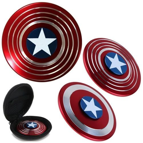 Captain America Fidget Hand Spinner Shield EDC Focus Toy & Carring Case for ADHD  Be the first to write a review.