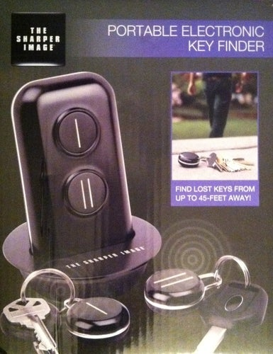 New The Sharper Image Portable Electronic Key Finder Tophatter