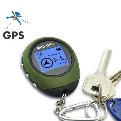 Mini Handheld GPS POI Outdoor Sport Travel Keychain Navigation Personal Pocket Tracker Built-in GPS Module Navigation GPS For Biking Hiking Wild Exploration Pathfinding PG03(Orange)