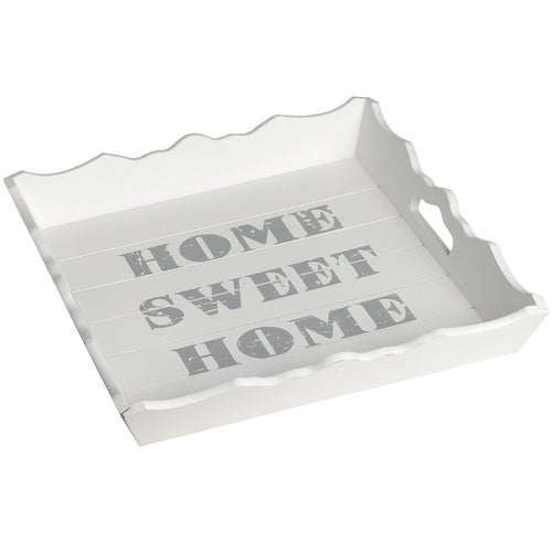 Hill Interiors Home Sweet Home White Wooden Square Tray