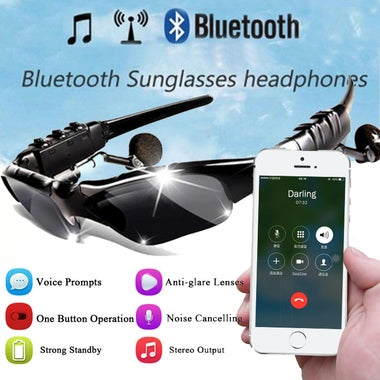 Sports Wireless Bluetooth Headset colorful Sun lens Earphones Sunglasses Riding
