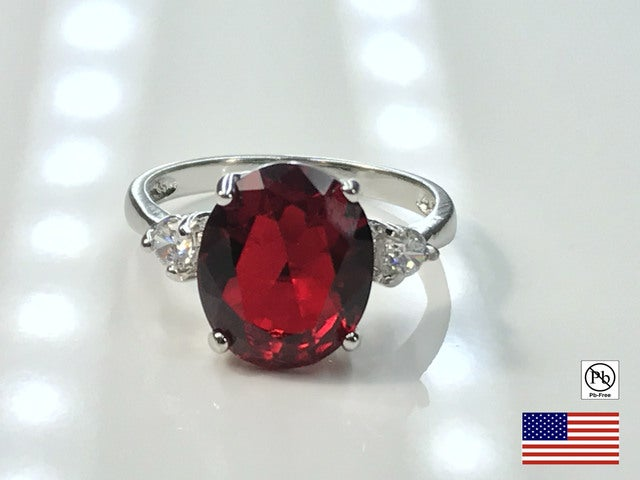 CZ Engagement Ring on Silver Band. Size 7, 8 or 9.