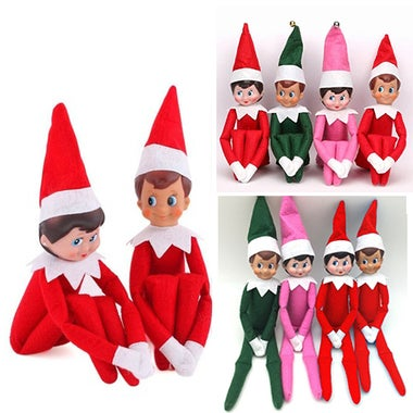 Elf Plush Dolls Girl&Boy Figure Christmas Novelty Toy Xmas
