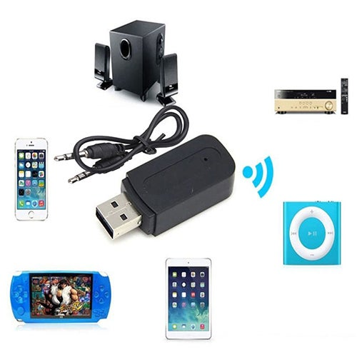 3.5mm Car Wireless Bluetooth Aux Audio Stereo Music Receiver Adapter with Mic