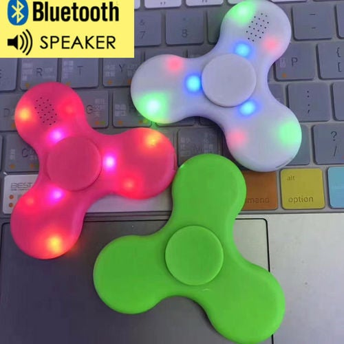 LED Bluetooth Speaker Hand Spinner Fidget Torqbar Finger Gyro EDC ADHD Autism