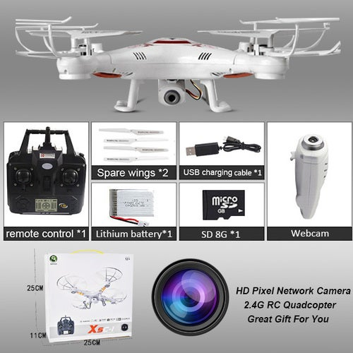 X5C Flying Aircraft With Camera 2.4G RC Helicopter Drone HD Remote Control 6 Axis Gyro