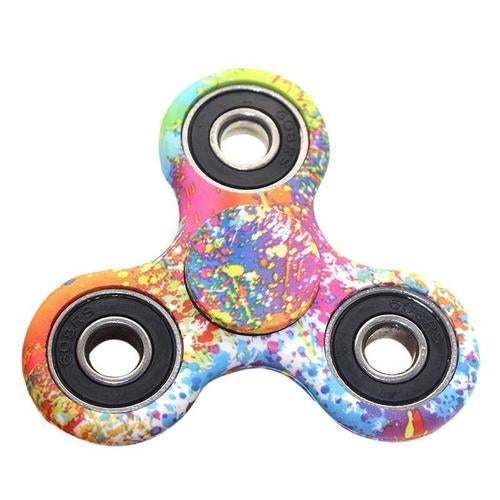Colorful Paint Splatter Tri-Spinner Fidget EDC Hand Gyro ADHD Focus Anti Stress