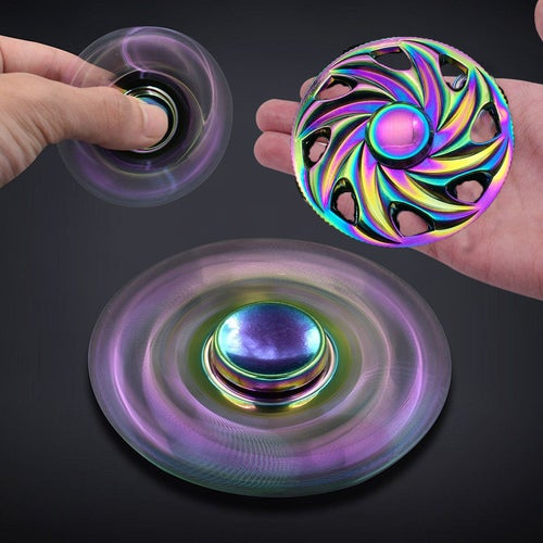 Hot Wheels Rainbow Colors Alloys EDC Hand Fidget Spinner High Speed Focu Toy Gift