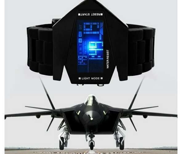 Multi - function LED electronic aircraft watch