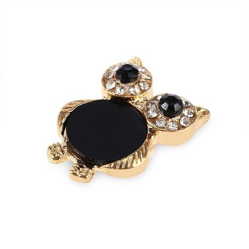 Unique Alloy Little Owl Shape with Rhinestoned Home Button Sticker for iPhone