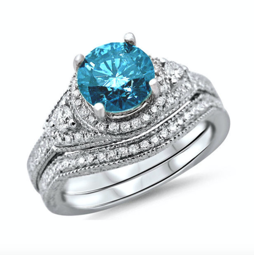 Gorgeous Blue CZ ring #932