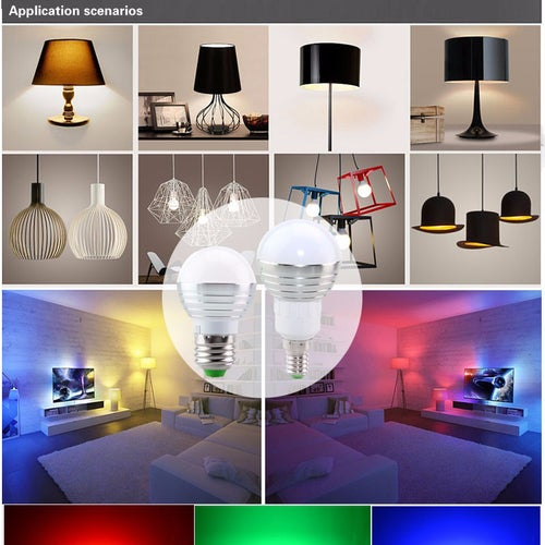 New Design Night Light E27 E14 85-265V RGB LED Lamp Nighlights for Children Wireless Control with Remote Energy Saving Lamps
