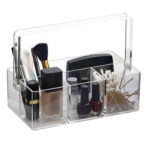 Home Basics MH41393 Plastic Makeup Jewelry Organizer Tray, Clear