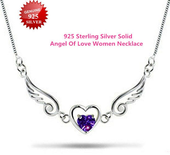 Women Angel Of Love Necklace Goddess of Victory Wings Pendant