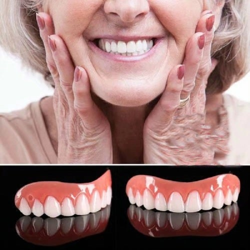 Perfect Smile Cosmetic Teeth Fake Tooth Cover Dental False Natural Snap Perfect