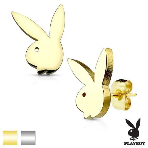 Playboy Bunny 316L Stainless Steel Earring Studs Pair