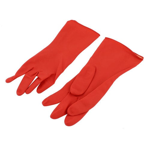 Unique Bargains Home Cloth Dishes Washing Skincare Cleaning Latex Gloves Pair