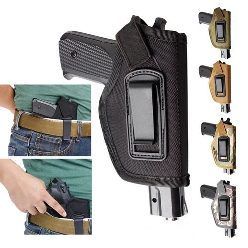 IWB Concealed Pistol Waistband Holster: Black or Camo