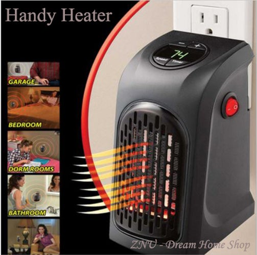 Mini Electric Home Handy Heater Stove Hand Warmer Plug-In 350 W Wall Heater Hotel Kitchen Bar Bathroom Car Travelling