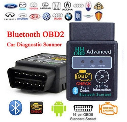 Bluetooth OBD2 OBDII CAN BUS Check Engine Car Auto Diagnostic Scanner Tool Interface Adapter For Android PC ELM327 Latest V1.5