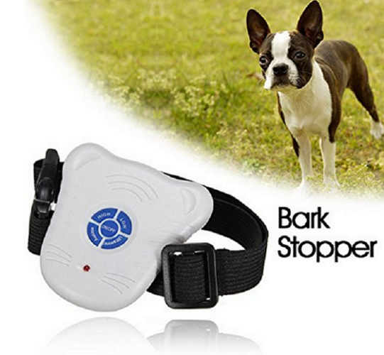 Adjustable Stretch Ultrasonic Anti Bark Bark Stop Control Barking Dog Collar Pet Products
