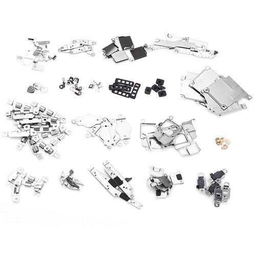 5 Sets Small Metal Parts Holder Bracket Shield Plate Home Logic Kits Repalcements for iPhone 5C