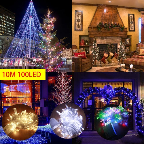LED Fairy String Lights, Super Bright with 10M 100 LEDs, Waterproof Decorative Starry Lights for Bedroom, Patio, Wedding Party In/Outdoor