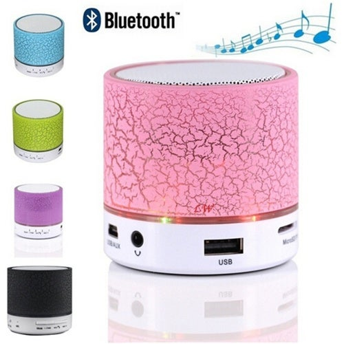 Fashion Mini USB Wireless Bluetooth Speakers Hand-free Loudspeakers Modern Home LED Night Light Music for Mobile Phone IPhone Tablets Bluetooth DevicesSize:S/L