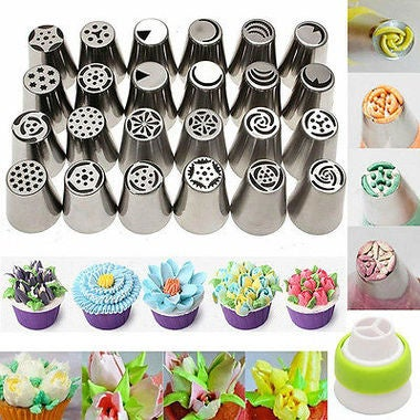 7PCS   Russian Icing Pastry Piping Nozzles Tips Cake Decorating Cupcake Tool