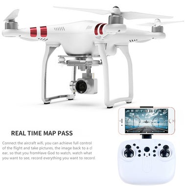 2.0MP Wifi Camera RC Quadcopter Drone with HD WiFi Camera Real-time Display on P