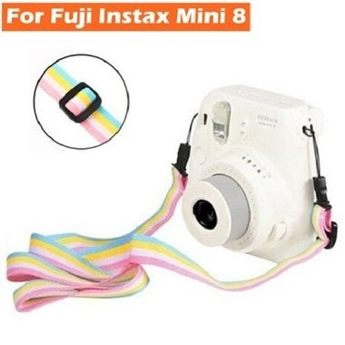 Instant Film Camera Rainbow Camera Flexible Neck Shoulder Strap For Fujifilm Ins